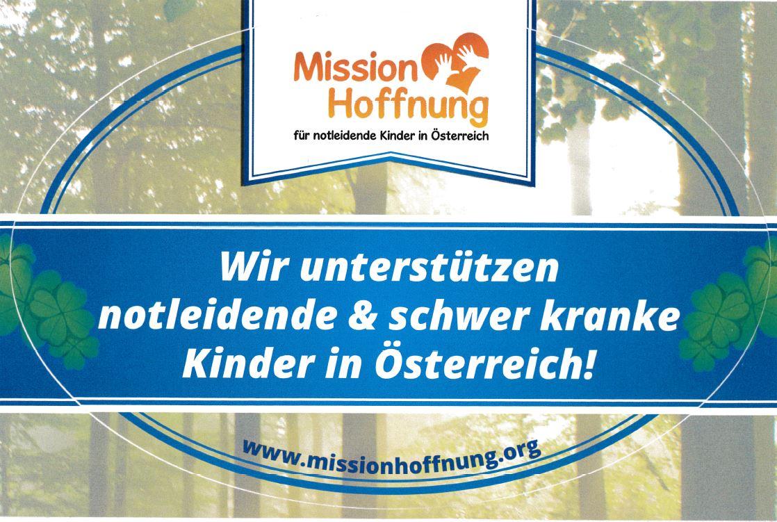 Mission Hoffnung Aufkleber